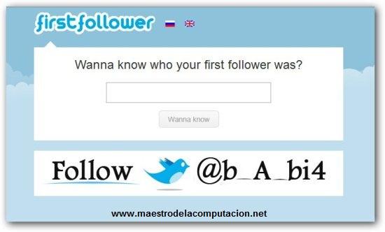 Quién fue tu primer seguidor en Twitter