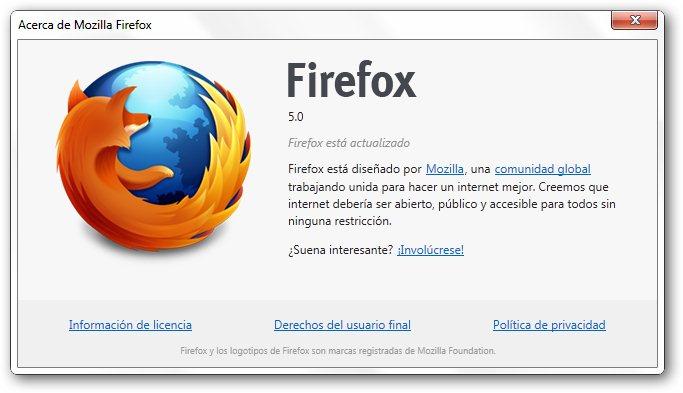 Firefox 5 Final disponible para descargar