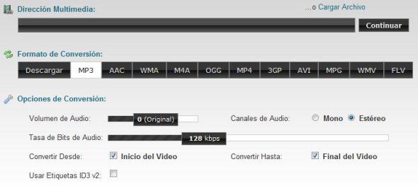 ClipConverter – Convertidor online de música y vídeos