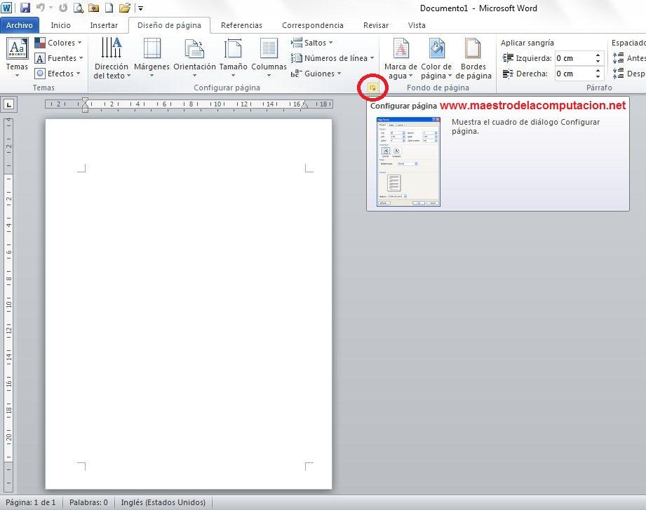 Configurar Pagina