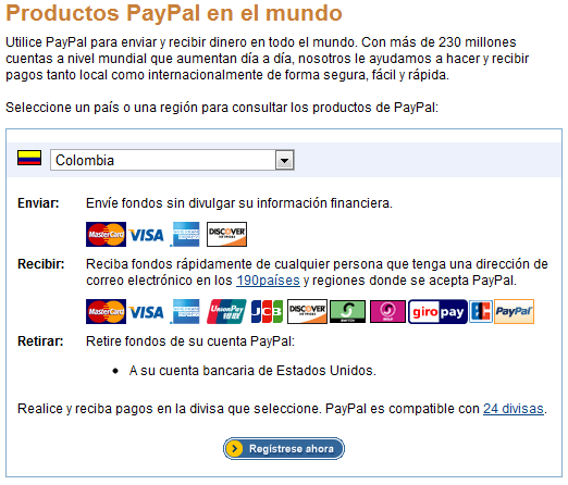 Paypal Colombia