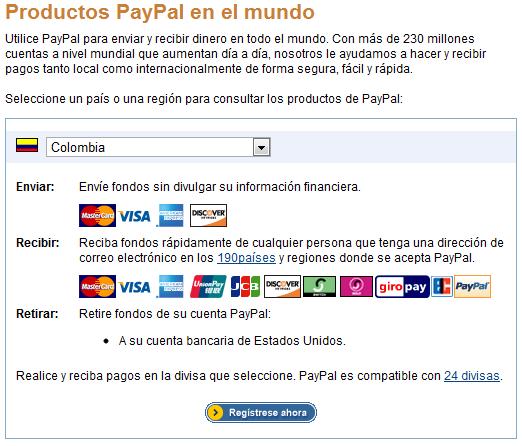 Paypal Colombia ya permite recibir Pagos