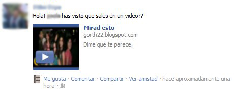 Mensaje video en Facebook