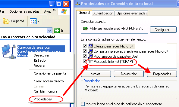 DNS en Windows XP